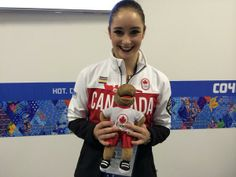 Kaetlyn Osmond and Komak Team Canada Sochi 2014