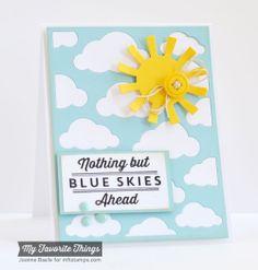 Blue Skies Ahead, Cloud Cover-Up Die-namics, Sun Moon & Stars Die-namics - Joanne Basile #mftstamps