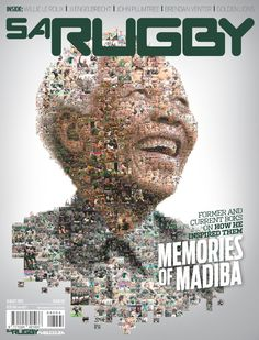 MagLove: Nelson Mandela at as captured on magazine covers Rugby Pictures, South African Rugby, Rugby Sport, First Black President, Sports 5, Rugby Players, So Creative, Nelson Mandela, Media Design