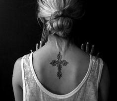 Cross Tattoos For Girls On Back