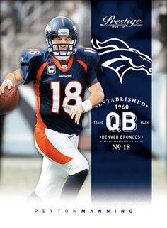 Peyton Manning as a  Bronco.
