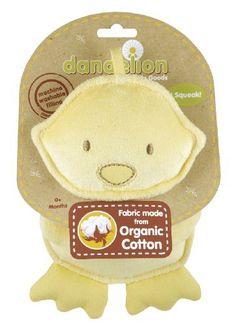 Classic Organic Squeaker Duck by Dandelion