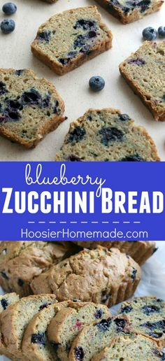 Blueberry Zucchini Bread Recipe - this delicious, moist bread is a MUST make! SHH...don't tell the kids it has veggies in it though, they will never know! The Zucchini and Blueberries make a double punch of flavor with all the great nutrients for you! Click on the Photo for the Zucchini Bread Recipe!