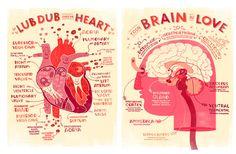 De San Valentín corazón y cerebro anatomía Poster reparto!