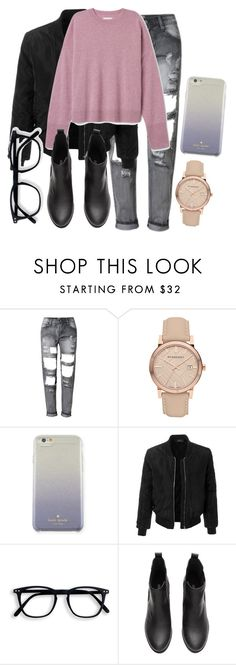 """""""29.11.2016."""" by crazygirlandproud ❤ liked on Polyvore featuring Burberry, Kate Spade and LE3NO"""