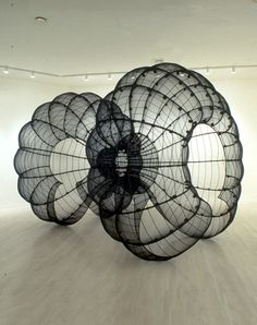 Kendall Buster creates huge sculptural works inspired by the molecular world…