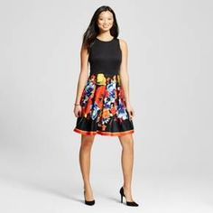Women's Tank Dress with Floral Printed Skirt - Melonie T : Target