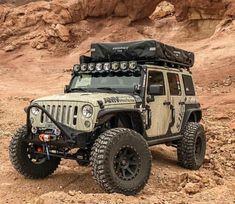 Jeep Wrangler Camping, Jeep Wrangler Lifted, Jeep Jku, Jeep Rubicon, Jeep Wrangler Unlimited, Suv Trucks, Lifted Ford Trucks, Jeep Truck, Badass Jeep