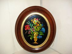 Victorian VASE OF FLOWERS Tin Foil Art by PastPossessionsOnly, $39.95