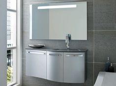 bagno moderno lunghezza 121 cm e profondit 3851cm finitura inox opaco con piano decorating bathroomsbathroom ideasceramic