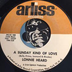 Lonnie Heard - A Sunday Kind Of Love b/w Romance In The Dark - Arliss #1006 - Doowop