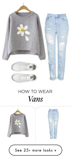 """day-z girl"" by laney-girl02 on Polyvore featuring Topshop and Vans"