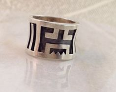 taxco silver band ring -