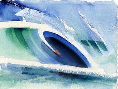 john severson watercolor   Surf Art: John Severson art of surfing. Surf Paintings, Surf Art, Surf ...