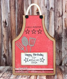 Apron shape card design by Alaa Studio   card by Pretty Paper, Pretty Ribbons