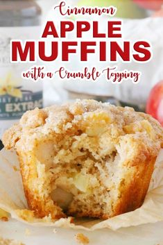 Breakfast Recipes Make these Easy Apple Muffins with a Crumb Topping for a sweet breakfast recipe everyone will love! Cinnamon muffins loaded with baked apples are the perfect holiday breakfast treat and the perfect brunch recipe for feeding a crowd! Apple Dessert Recipes, Köstliche Desserts, Delicious Desserts, Apple Recipes Easy, Recipes For Apples, Cooking Apple Recipes, Recipes For A Crowd, Easy Apple Desserts, Apple Deserts