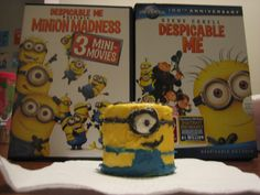 Marshmallow Minions! -  Mix yellow food dye, Black food dye, and blue food dye with white frosting (separately). Decorate the marshmallow (I used the large campfire kind) with the colored frosting and you have a minion! :)