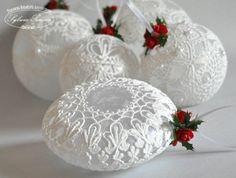 Кружевные..нежные..восхитительные елочные шары.   Специалист по дизайну и декору