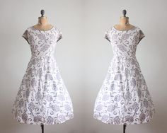 1950s dress  vintage 1950's garden party dress by Thrush on Etsy, $89.00