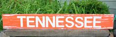 """Wooden Signs, Wood Signs, College Art, Wood Art, Distressed Wood Sign Art: """"Tennessee"""" Wood Sign. $28.00, via Etsy."""