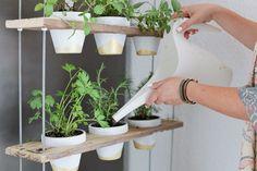 Custom Potted Hanging Herb Garden DIY - Fresh Mommy Blog : Fresh Mommy Blog