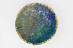 Tuolumne Bowl, Reclaimed Glass,  Deep Teal and Metallic Purple Home Decor, Studio Art Glass Bowl by MiraMiraDesign on Etsy https://www.etsy.com/listing/290034199/tuolumne-bowl-reclaimed-glass-deep-teal