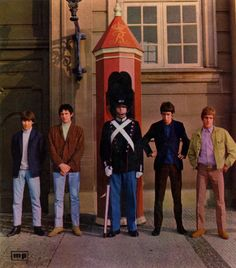 The Who - 1965 in front of the royal palace in Copenhagen,Denmark