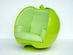 Beautiful Green Apple Shaped Chairs Design Contemporary Minimalist Furniture