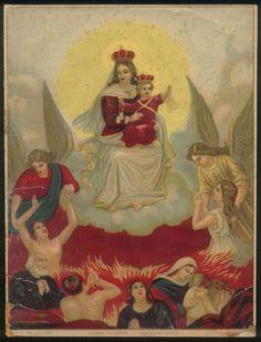 Madonna del Carmelo Protettrice delle Anime del Purgatorio https://sites.google.com/site/santiniframmentidireligiosita/madonna-del-carmelo-e-anime-del-purgatorio/immagini