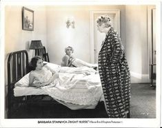 "vavavintage: "" Barbara Stanwyck and Joan Blondell as mischievous, lovely roomies in Night Nurse "" Blonde Nurse, Itazura Na Kiss, Night Nurse, Pre Code, Barbara Stanwyck, Film Stills, Vintage Hollywood, Blondes, Home"