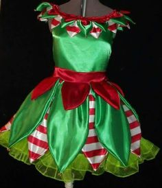 Girls' Christmas Elf Dress This would be awesome for a Christmas Program on Ice! Christmas Elf Costume, Christmas Costumes, Christmas Crafts, Christmas Christmas, Costume Lutin, Christmas Shows, Christmas Skirt, Christmas Clothes, Christmas Outfits
