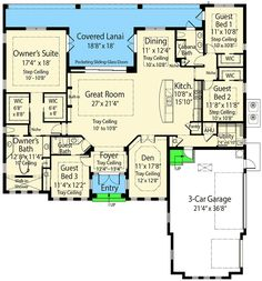 Net Zero Ready Mediterranean Home Plan with Grand Master Suite - 33198ZR floor plan - Main Level