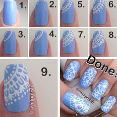 Step By Winter Nail Art Tutorials 2013 2014 For Beginners Amp Learners Fabulous Design 9