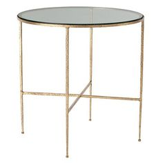 "Arteriors Winchester Side Table  $876  24"" diam. x 24"" H"