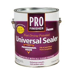 Prep unfinished wood with Rust-Oleum® Pro Finisher Universal Sealer. This patented, professional-grade formula penetrates to fill and seal wood pores completely. Improves topcoat adhesion and adds a rich tone to domestic and exotic wood alike.