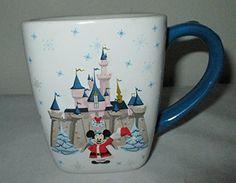 Disneyland Resort Christmas Mickey Mouse Santa Claus Castle 2005 Mug