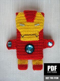 PDF PATTERN - Iron Man - iPhone 5 crochet case (cozy, sleeve, cover)