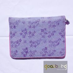 $300 clara goasberg. handcrafted iPad bag with metal zip made in natural felt. limited edition Gadgets, Ipad Bag, Felt, Zip, Natural, Metal, How To Make, Bags, Products