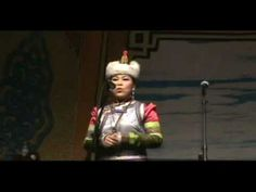 This is amazing-- it's very rare for women to be able to throat sing at this pitch! ▶ Female Mongolian Throat Singer - YouTube