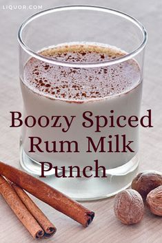 Spiced Rum Milk Punch Cocktail Recipe Spice up the holidays with this subtle twist on the classic brandy milk punch. The Spiced Rum Milk Punch Cocktail is creamy and delicious! Brandy Cocktails, Winter Cocktails, Christmas Cocktails, Classic Cocktails, Thanksgiving Cocktails, Halloween Cocktails, Craft Cocktails, Party Drinks, Fun Drinks
