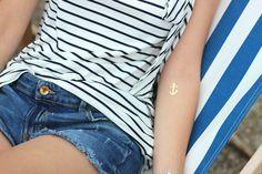 Ohé Mon Capitaine  #blog #mode #stripes #navy #summer #fashion #marinayachting #paris #dcertattoo