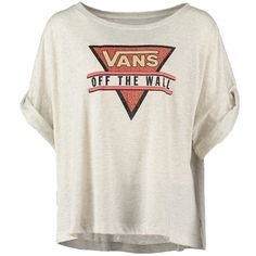 Vans WALLED Print Tshirt found on Polyvore