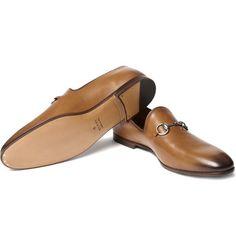 f4a8fa56e09 Gucci Horsebit Leather Loafers Mens Designer Loafers