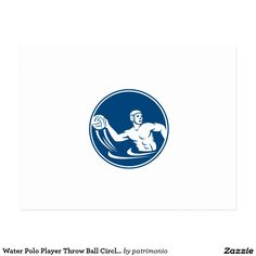 Icon illustration of a water polo player throwing ball set inside circle on isolated background done in retro style. Water Polo Players, 2016 Rio, Summer Games, Summer Olympics, Retro Style, Illustration, Sports, Hs Sports, Retro Styles