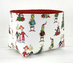Most up-to-date Pics Grinch Christmas Basket, Fabric Storage Bin, Grinch Gift Basket - Dr. Seuss How the Grinch Stole Christmas Strategies Baskets are chosen for ornamental purposes in addition to may be used functionally for regulatory or Fall Bunting, Christmas Bunting, Christmas Baskets, Christmas Gifts, Christmas Fabric, Home Decor Baskets, Gift Baskets, Fabric Storage Baskets, Fabric Basket