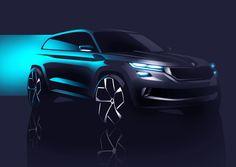 Skoda Drops New VisionS Concept Teaser Sketch