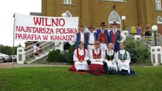 Canadians of Kashubian descent wearing traditional  costumes in Wilno, Ontario, the oldest Polish settlement in Canada. Photo taken in 2008, the 150th anniversary of this Kashubian settlement.