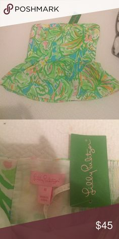 Cute Lilly top Lilly strapless peplum top never worn! Lilly Pulitzer Tops Blouses