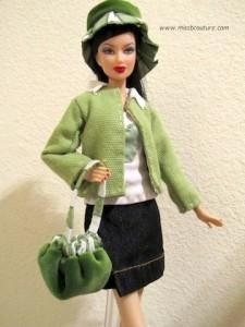 DIY Dolls : DIY Green vest Lots of great free barbie clothes patterns on this site missbcouture.com
