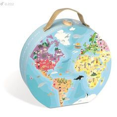 Our Planet World Map Round Double Sided 208 pc Puzzle - Educational Toys Planet Blue Planet 2, Our Planet, Floor Puzzle, Map Globe, Educational Toys, Kids Toys, Children's Toys, Jigsaw Puzzles, Globes